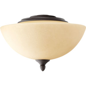 Oiled Bronze Two Light Ceiling Fan Kit with Amber Scavo Glass