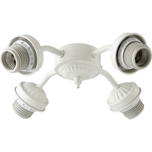 Studio White Four Light Ceiling Fan Light Kit Mounting Hardware
