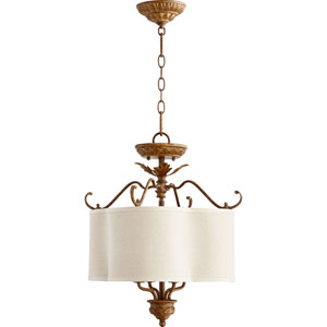 Salento French Umber 21.5-Inch Four Light Dual Mount Pendant