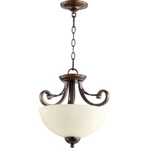 Lariat Oiled Bronze 14.5-Inch Two-Light Convertible Pendant