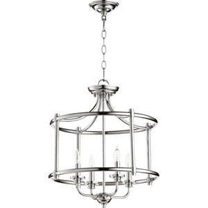 Rossington Polished Nickel Four-Light 19-Inch Pendant