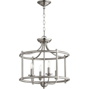 Rossington Satin Nickel Four-Light 19-Inch Pendant