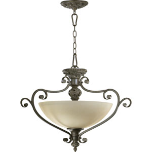 Fulton Three-Light Classic Bronze Convertible Pendant