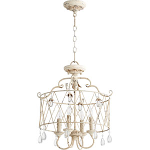 Venice Persian White 18-Inch Four-Light Convertible Pendant