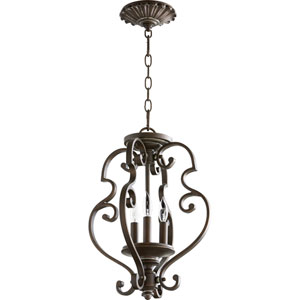 San Miguel Vintage Copper Three-Light Chandelier