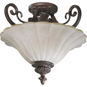 Coronado Two-Light Gilded Bronze Convertible Semi-Flush