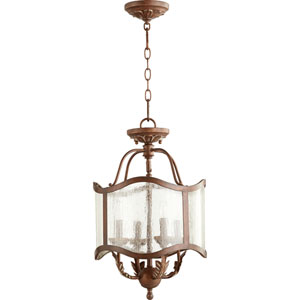 Salento Vintage Copper 13-Inch Four-Light Convertible Pendant