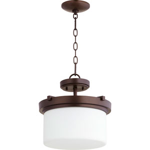 Lancaster Oiled Bronze Two-Light 13-Inch Pendant
