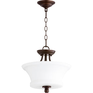 Rossington Oiled Bronze Two-Light 13-Inch Pendant