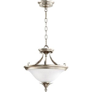 Flora Aged Silver Leaf 13-Inch Two-Light Convertible Pendant