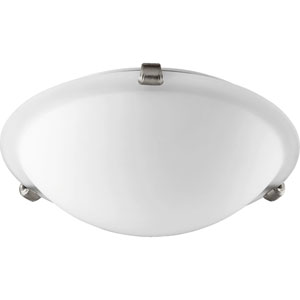 Satin Nickel 12-Inch Two-Light Flush Mount