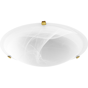 Aged Brass with Faux Alabaster Four-Light 20-Inch Ceiling Mount