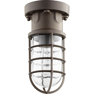 Belfour Oiled Bronze One-Light 4.88-Inch Ceiling Mount