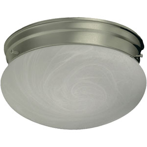 Mushroom One-Light Satin Nickel Flush Mount