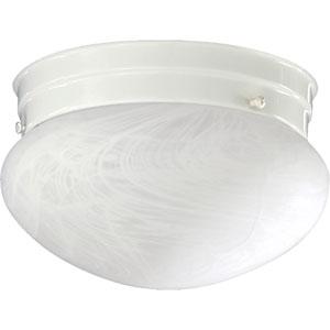 Mushroom Two-Light White Flush Mount