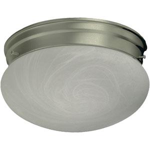 Mushroom Two-Light Satin Nickel Flush Mount