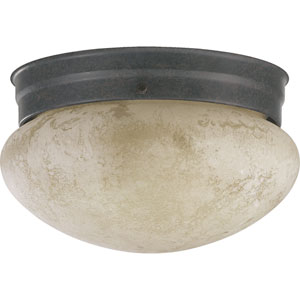 Mushroom One-Light Toasted Sienna Flush Mount