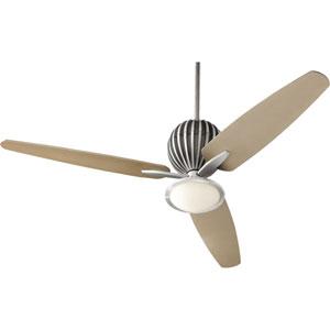 Alumina Brushed Aluminum 60-Inch One Light Three Blade Ceiling Fan