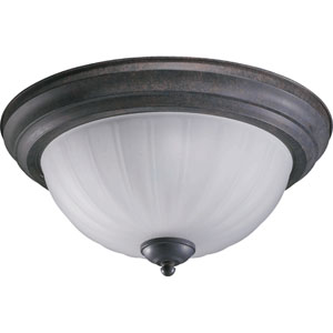Two-Light Toasted Sienna Flush Mount