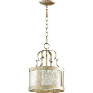 Champlain Aged Silver Leaf 11-Inch One-Light Pendant
