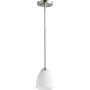 Jardin Satin Nickel One-Light 5.5-Inch Mini Pendant