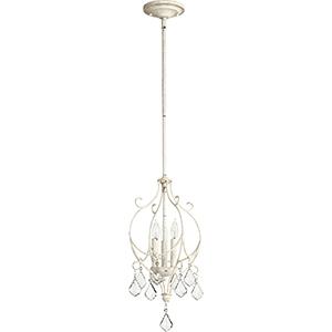Ariel Persian White Three-Light 10.25-Inch Mini Chandelier