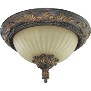 Madeleine Two-Light Corsican Gold Flush Mount