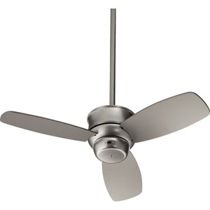 Gusto Satin Nickel 32-Inch Three Blade Ceiling Fan