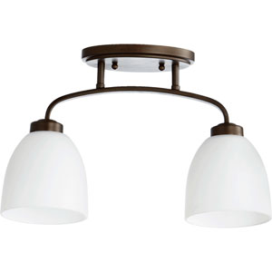 Reyes Oiled Bronze 5.5-Inch Two-Light Semi Flush Mount