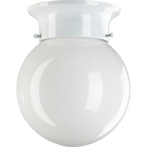 Ball One-Light White Flush Mount