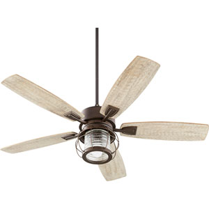 Galveston Oiled Bronze One-Light 52-Inch Ceiling Fan