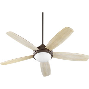 Colton Oiled Bronze with Satin Opal Three-Light 52-Inch Ceiling Fan