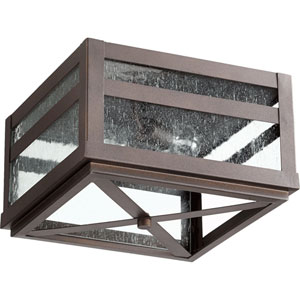 Clermont Oiled Bronze Two-Light Outdoor Flush Mount