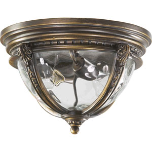 Pemberton Two-Light Bronze Patina Outdoor Flush Mount