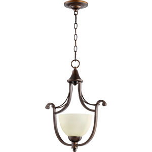 Lariat Oiled Bronze 14-Inch One-Light Pendant