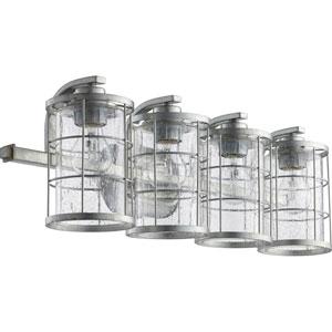 Ellis Tumbled Steel Four-Light 26-Inch Vanity