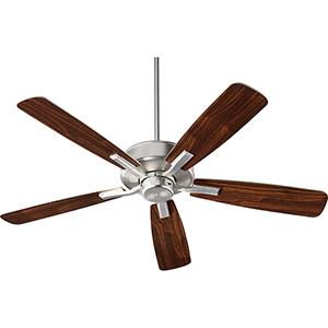 Villa Satin Nickel  52-Inch Ceiling Fan