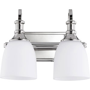 Richmond Polished Nickel Two-Light 13-Inch Vanity