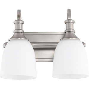 Richmond Satin Nickel Two-Light 13-Inch Vanity