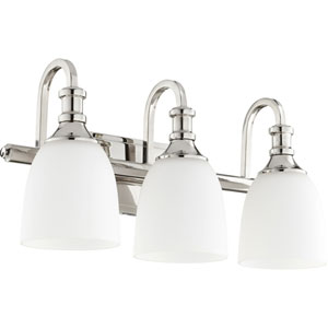 Richmond Polished Nickel Three-Light 20-Inch Vanity