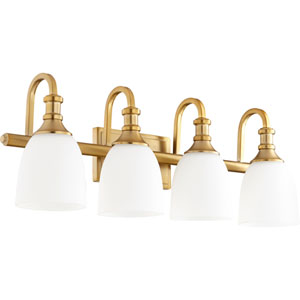 Richmond Aged Brass Four-Light 28-Inch Vanity