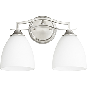 Jardin Satin Nickel Two-Light 14.5-Inch Bath Vanity
