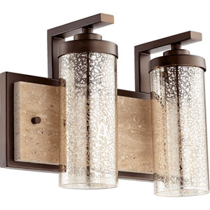 Julian Oiled Bronze 15.5-Inch Two-Light Vanity
