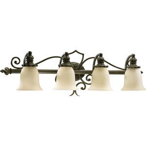 Fulton Four-Light Classic Bronze Bath Fixture