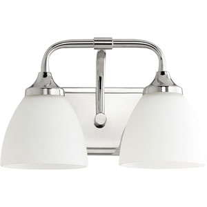 Enclave Polished Nickel Two-Light 13-Inch Vanity