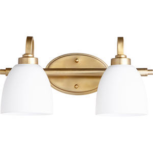 Reyes Aged Brass Two-Light 16-Inch Vanity