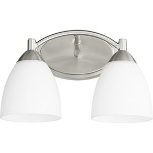 Barkley Satin Nickel Two-Light 14-Inch Bath Vanity