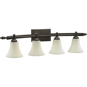 Aspen Four-Light Oiled Bronze Bath Fixture