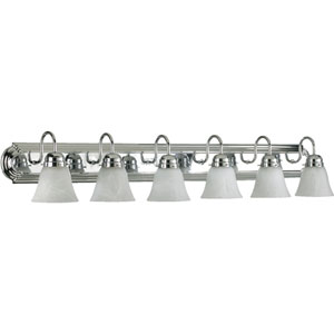 Six-Light Chrome Bath Fixture