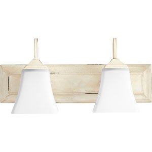 Persian White with Satin Opal Two-Light 18-Inch Vanity